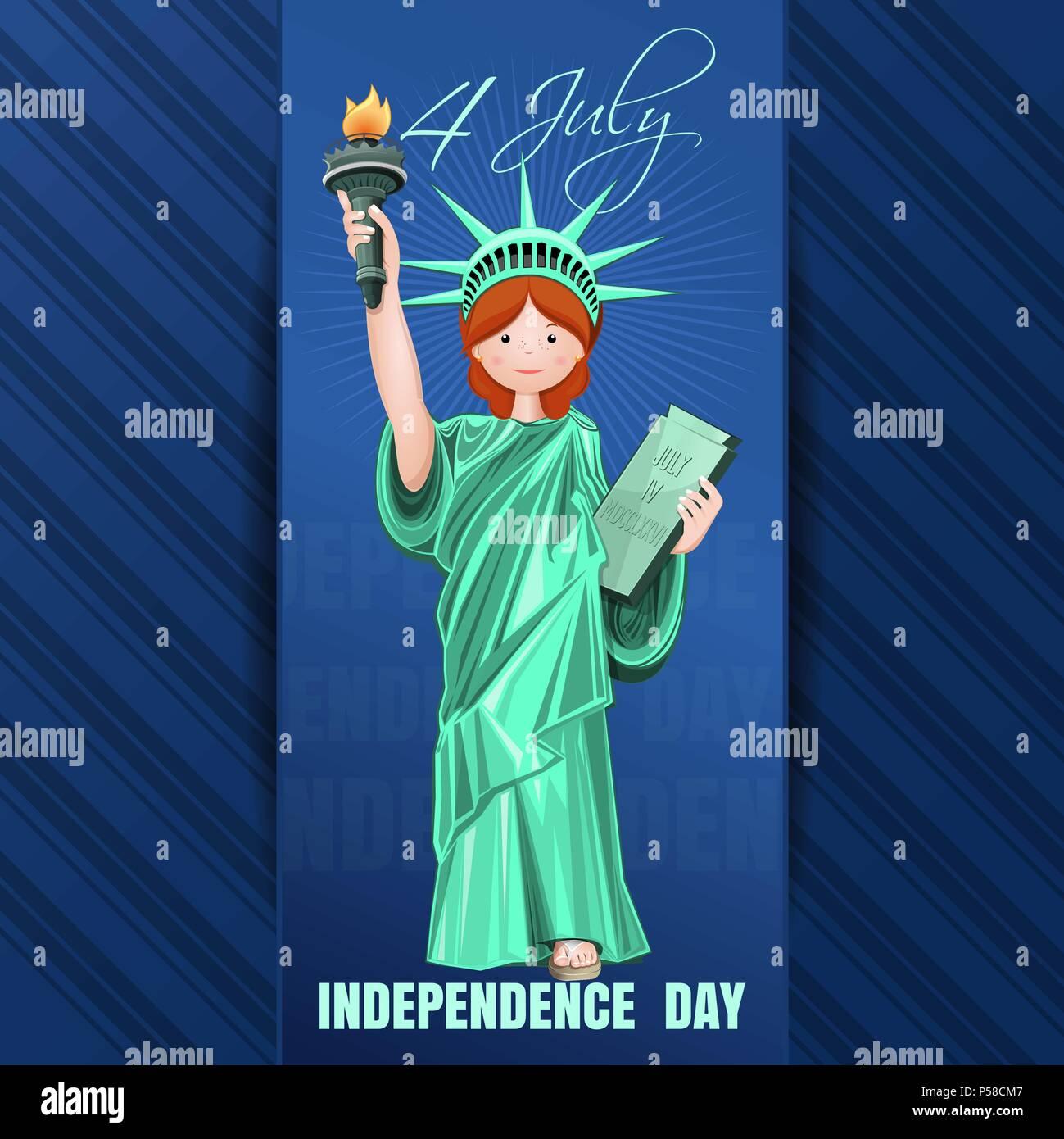 Tag Der Unabhängigkeit Karte Am 4 Juli Tag Der Unabhängigkeit