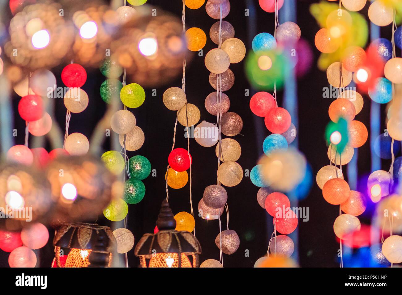 Led Licht Schoenen : Schönen vorhang linie der led beleuchtung mit bokeh bei nacht