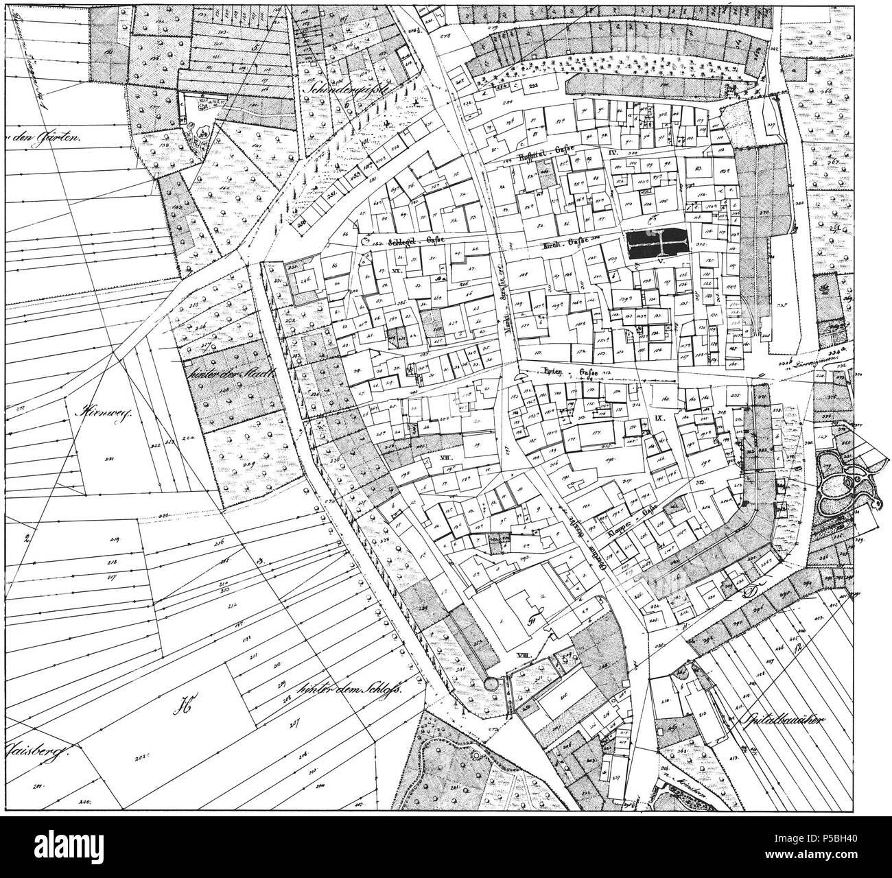 Heilbronn Karte Stadtplan.N A Englisch Historische Stadt Karte Von Brackenheim
