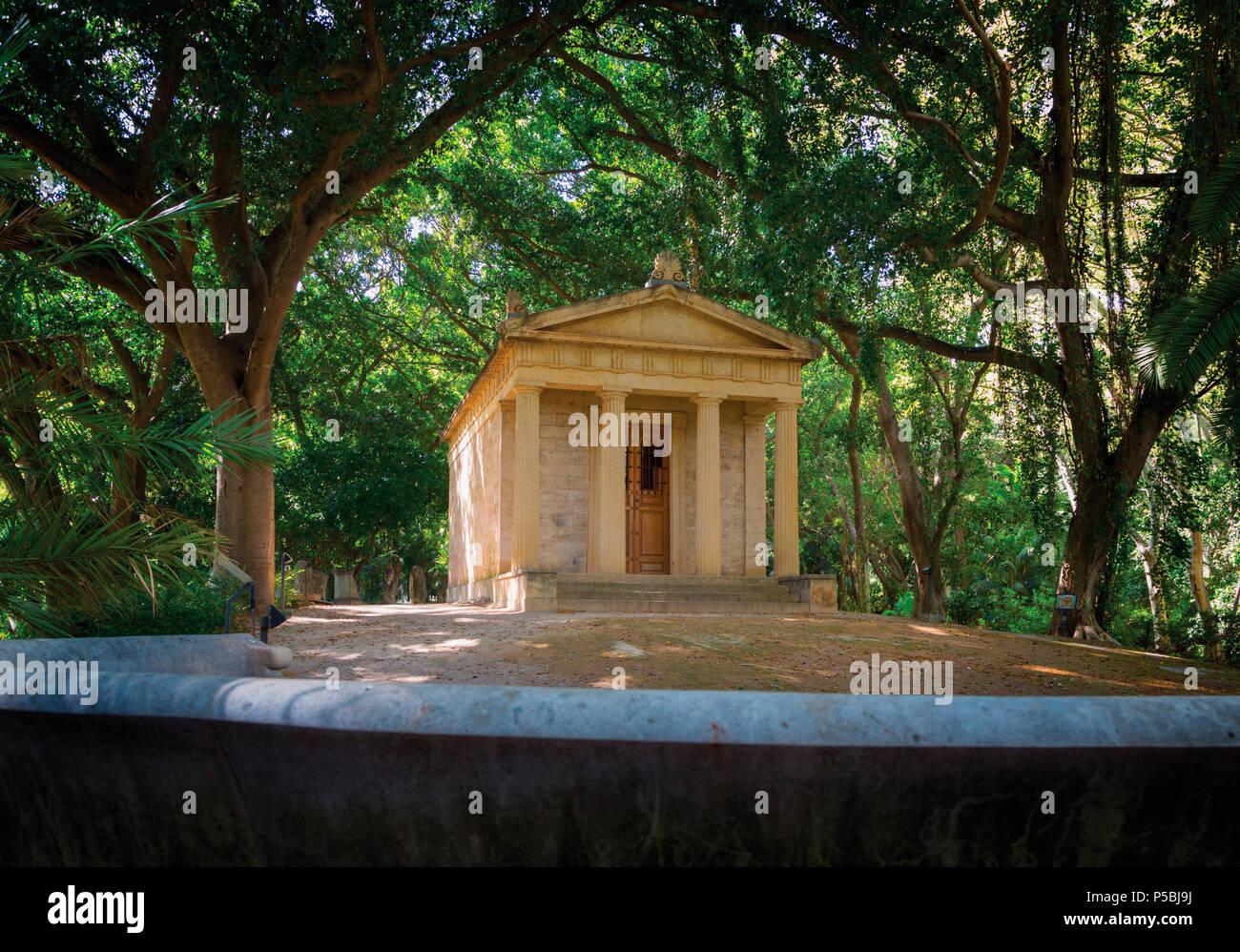 Malaga, Costa del Sol, Provinz Malaga, Andalusien, Südspanien. El Jardín Botánico-Histórico La Concepción. La Concepcion Historical-Botanical G Stockbild