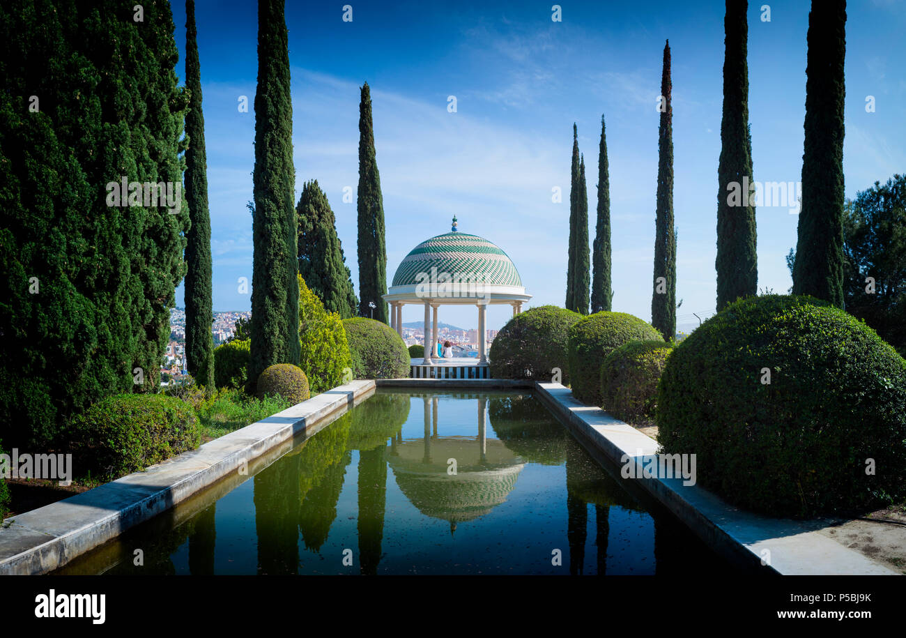 Malaga, Costa del Sol, Provinz Malaga, Andalusien, Südspanien. El Jardín Botánico-Histórico La Concepción. La Concepcion Historical-Botanical Stockbild