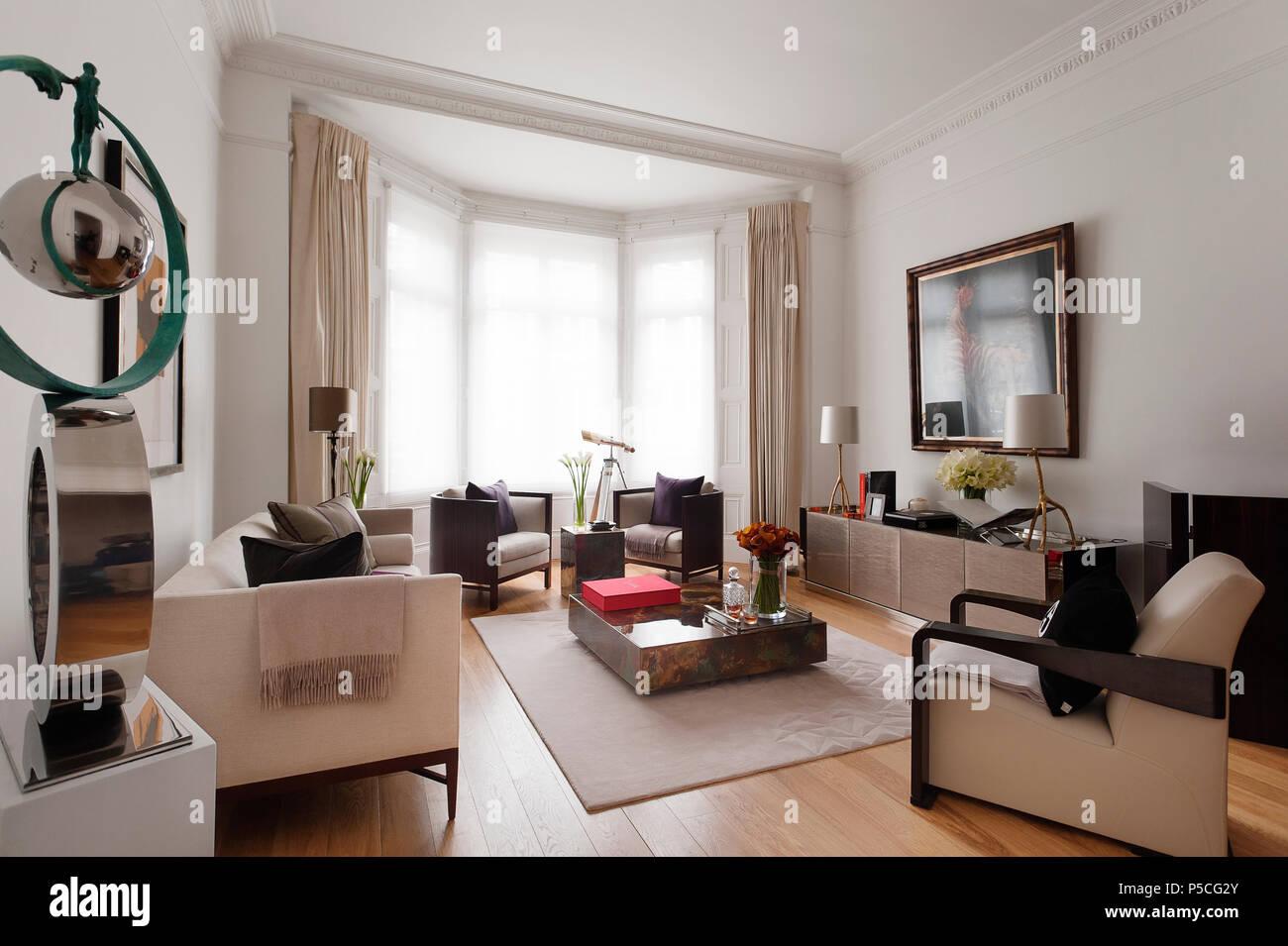 Im Art déco-Stil Wohnzimmer Stockfoto, Bild: 209873747 - Alamy