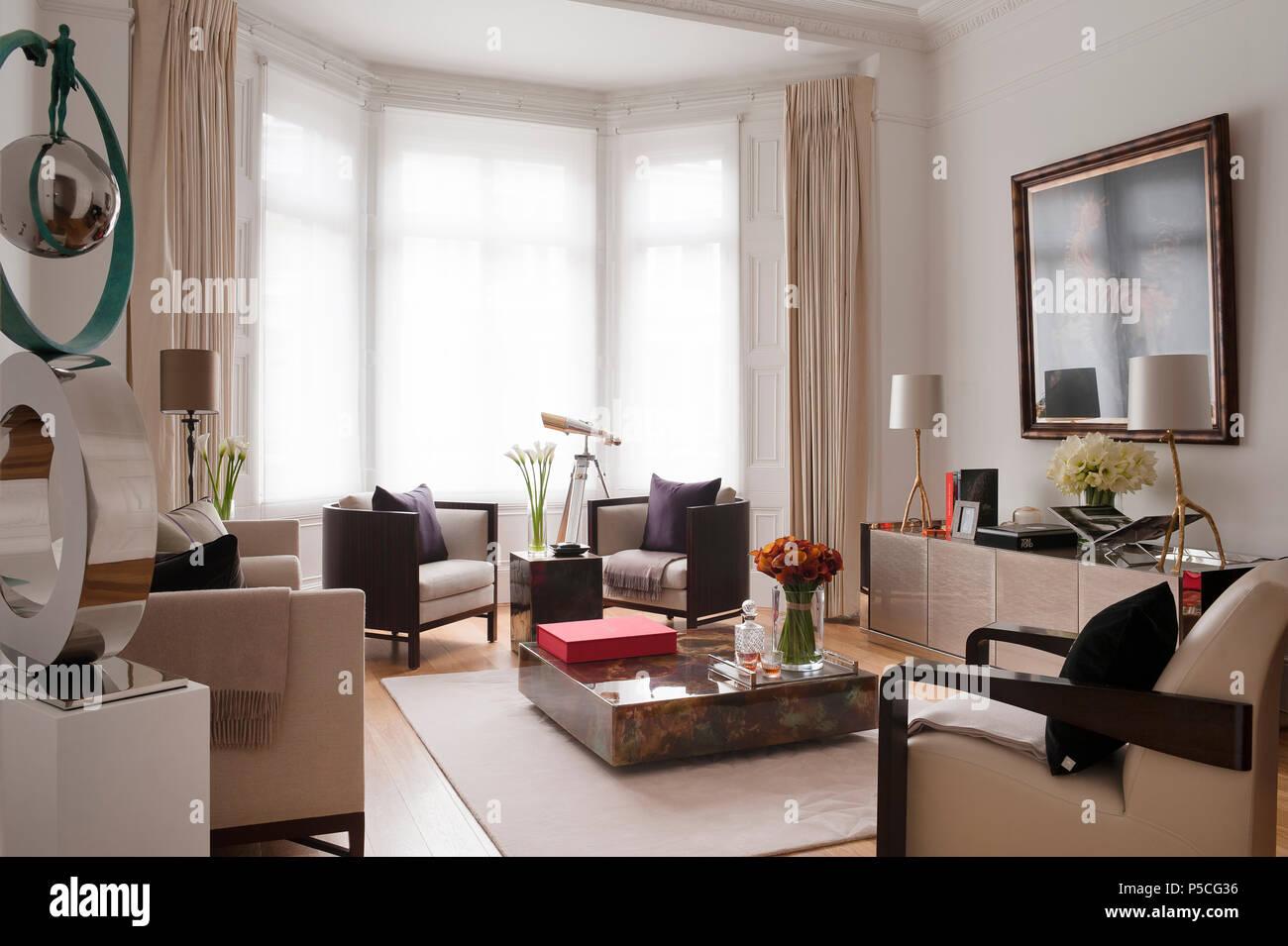 Im Art déco-Stil Wohnzimmer Stockfoto, Bild: 209873754 - Alamy