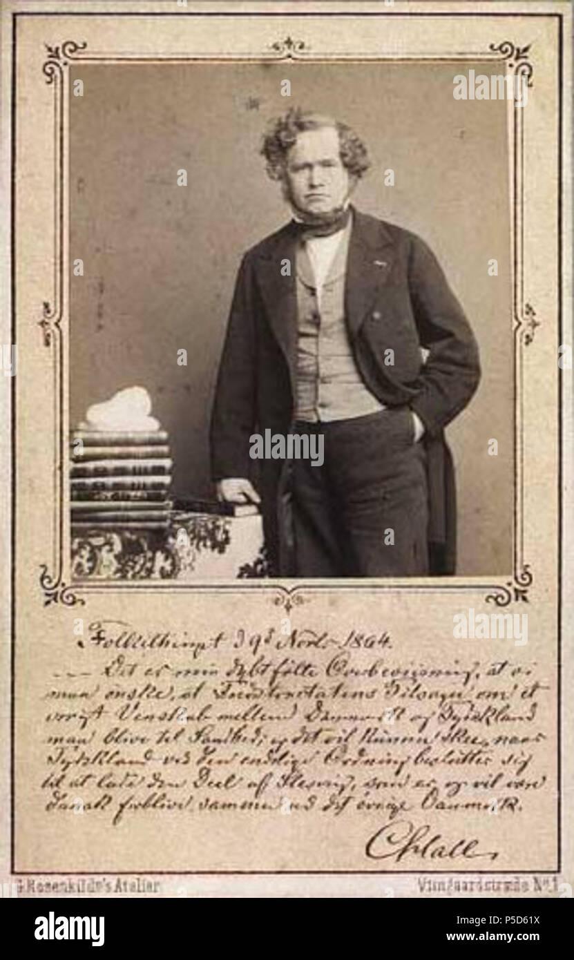 N A Englisch Carte De Visite Der Danische Ratsprasident Premierminister MP Carl Christian Hall 1812 1888
