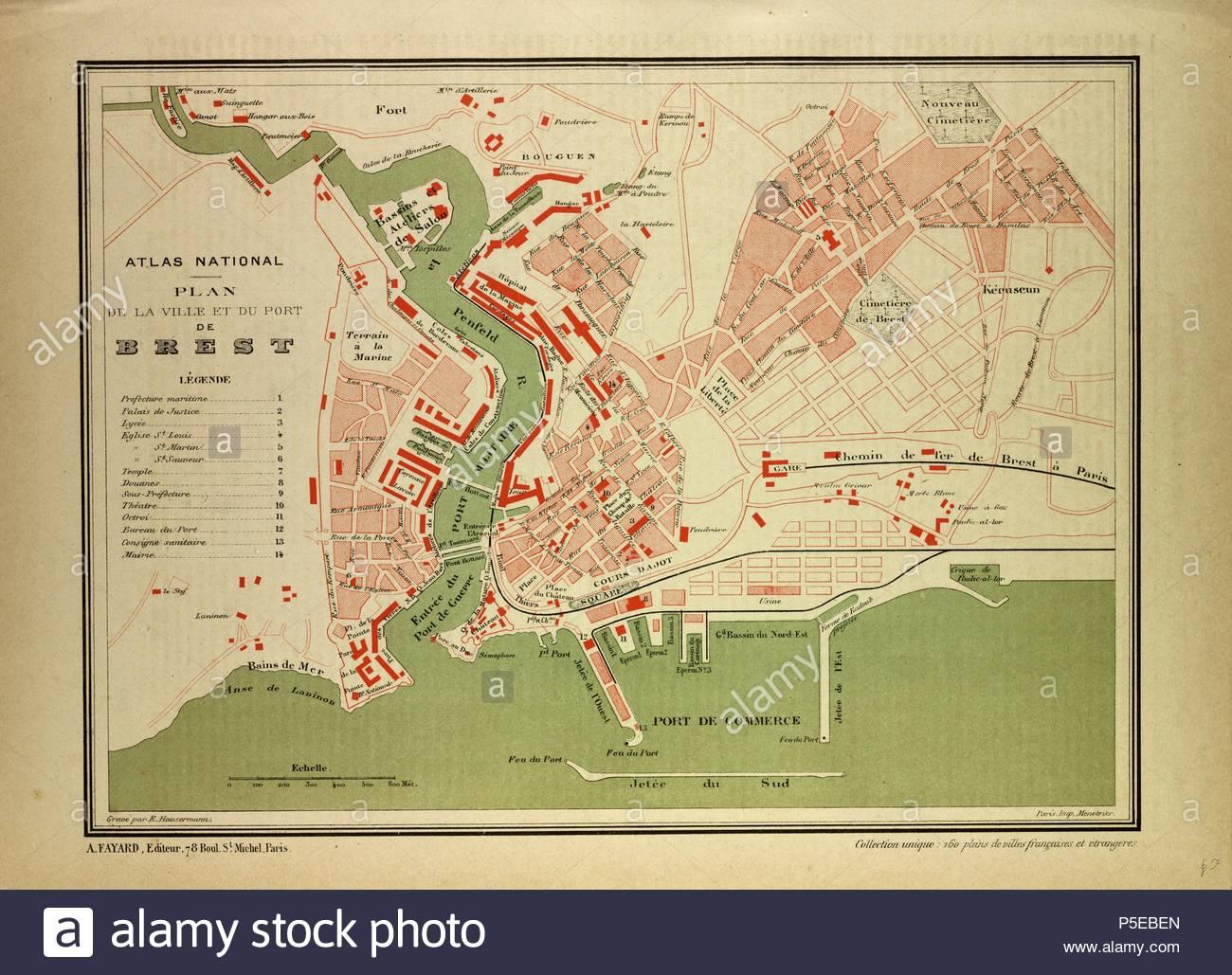 Map Of Brest France Stockfotos & Map Of Brest France Bilder - Alamy