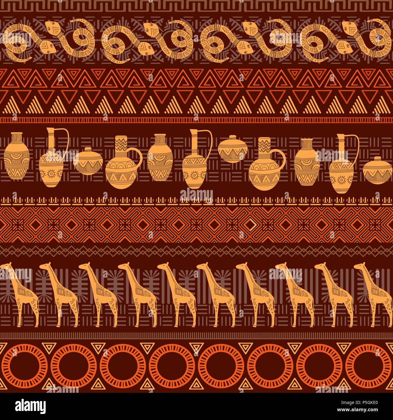 Tribal ethnischen nahtlose Muster. Abstrakte geometrische Ornamente ...