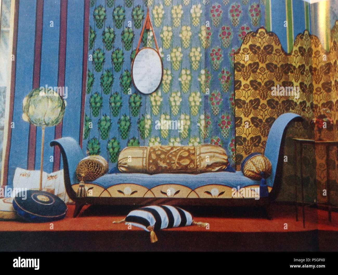 n a englisch anzeige der mobel durch das atelier francais am salon d automne 1913 von art et decoration zeitschrift 1914 1914 siefkindr 457 anzeige im