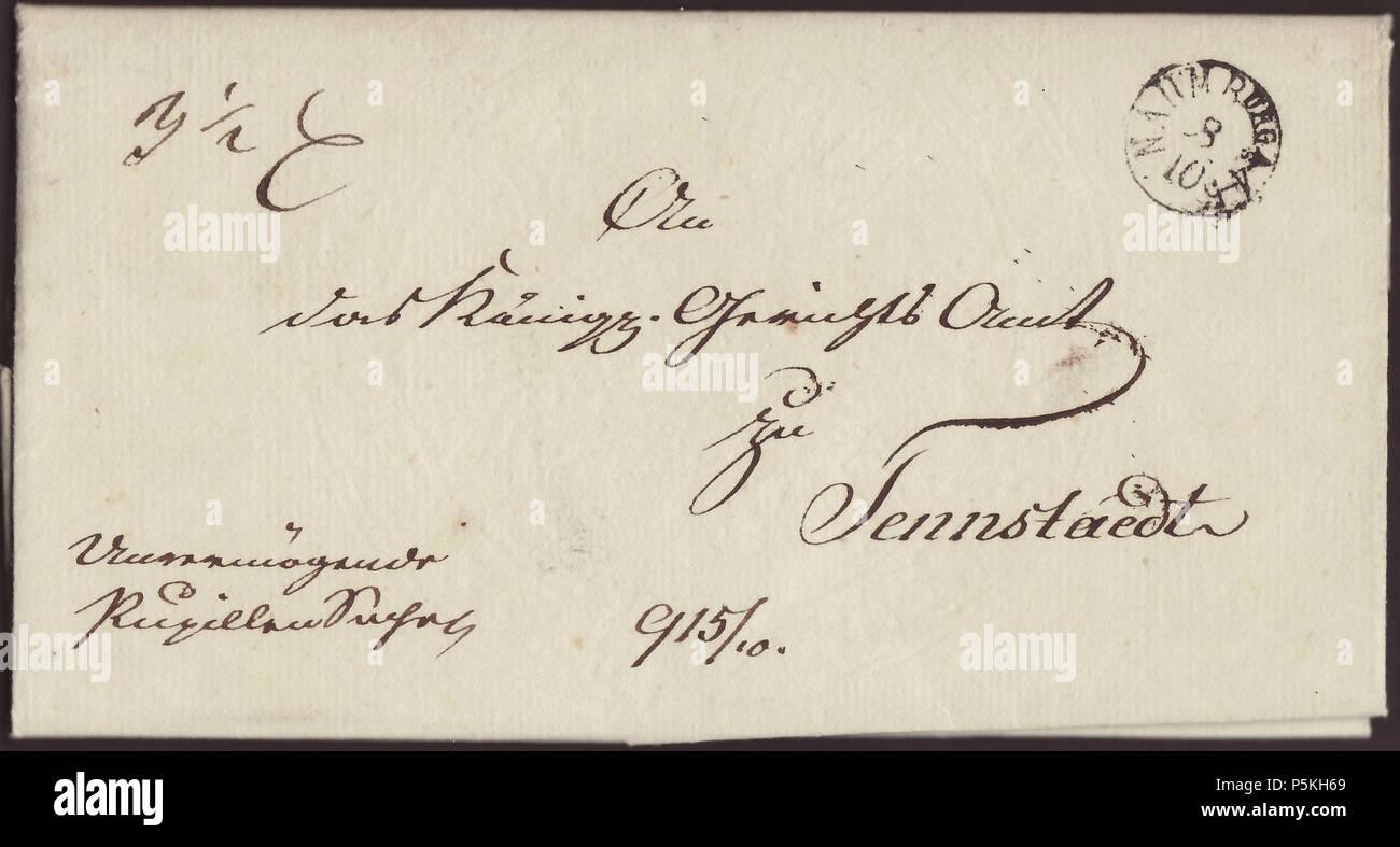 Na Englisch Pre Philatelistischer Brief Aus Deutschland