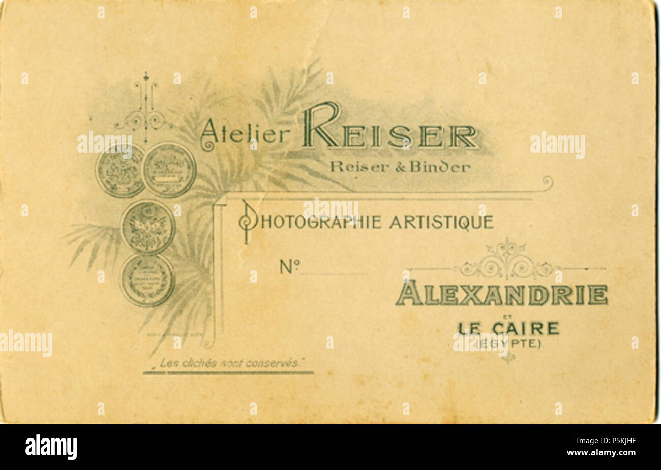 N A Englisch Andreas Reiser Visitenkarte Gedruckt Am