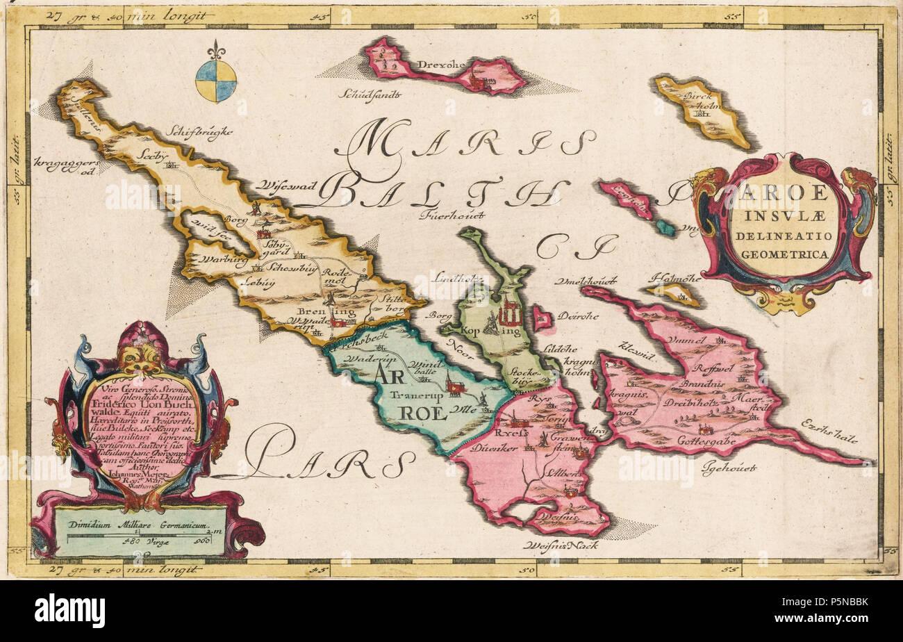 Karte Ostseeküste Deutsch.N A Deutsch Karte Der ærø Dänemark Ostsee 1665 Joan Blaeu