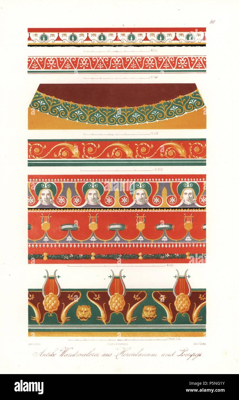 Wandgemälde aus Pompeji und Heraculaneum (ca. 300 v. Chr. bis AD 79 ...