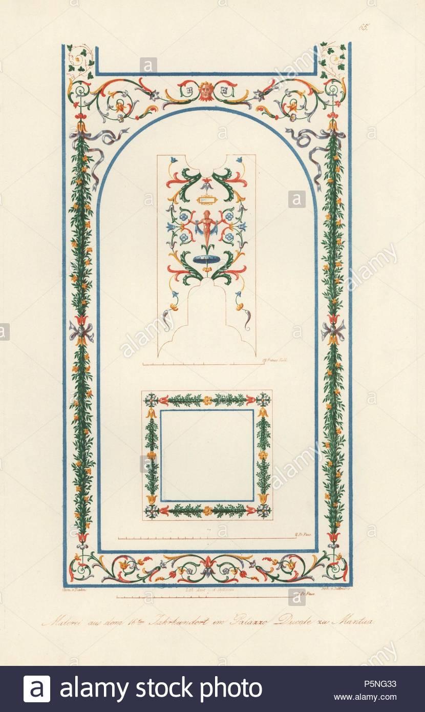 Wandbild in der Galerie des Palazzo Imperiale (Herzogspalast ...