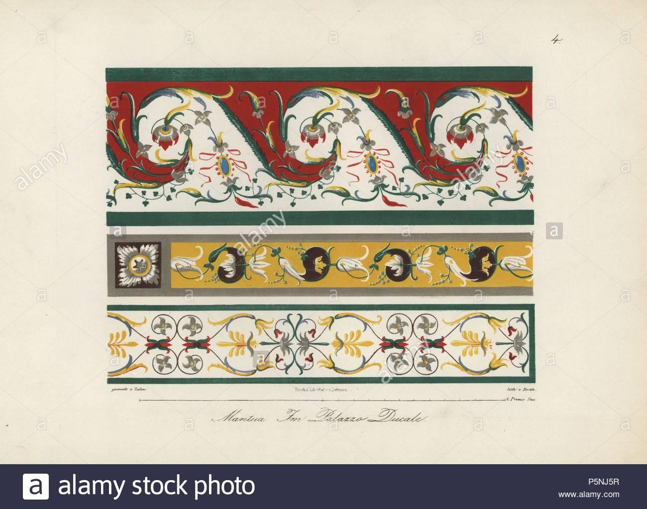 Wandmalerei und Deckenmalerei aus der Wohnung von Troy, im Palazzo ...