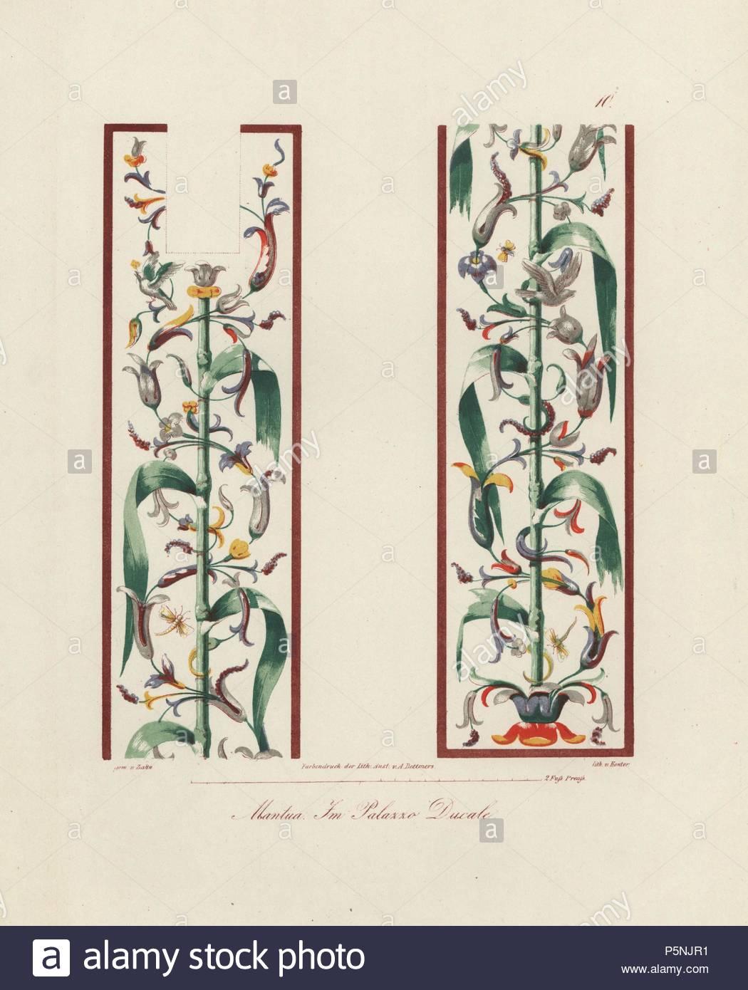 Wandbild aus der Großen Galerie im Palazzo Imperiale (Herzogspalast ...