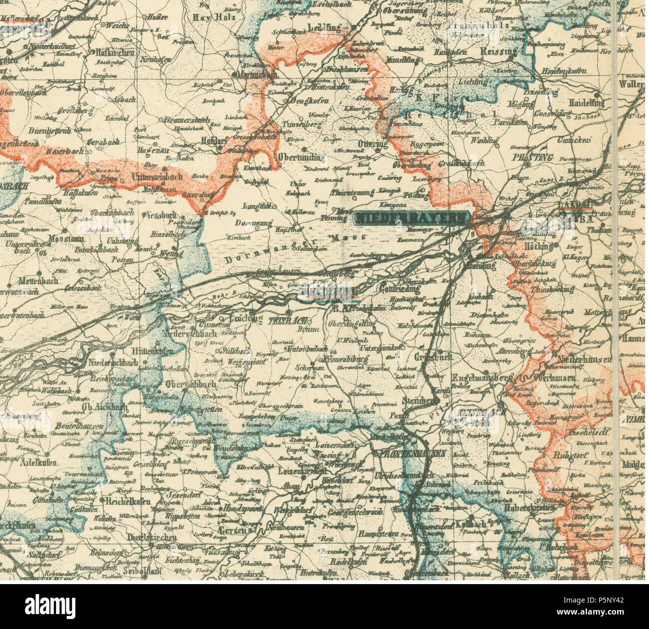 N A Deutsch Karte Von Niederbayern Ausschnitt Bezirksamt