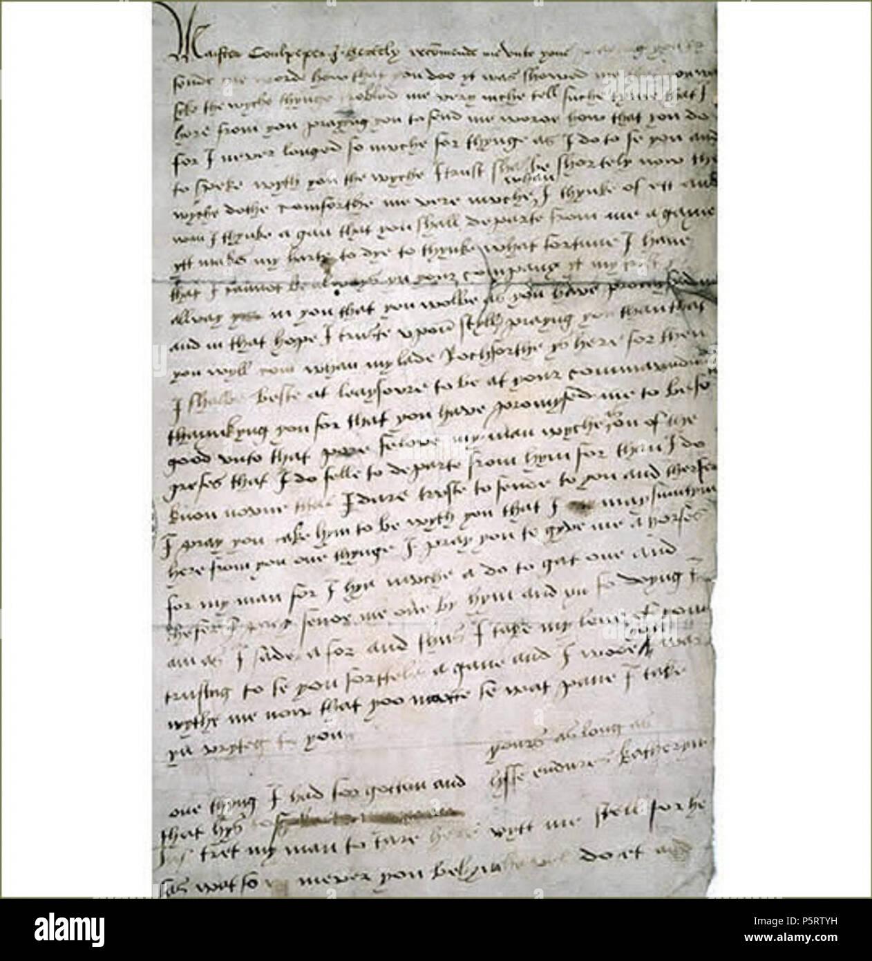 Na Englisch Brief Von Catherine Howard Zu Thomas Culpepper