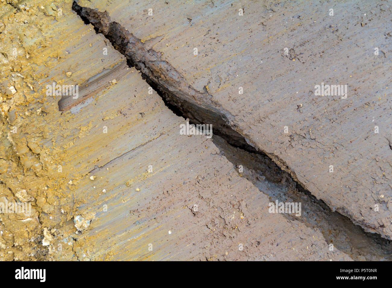 Schöne farbige full frame abstrakte Bodenstruktur einschließlich einer Spalte Stockbild