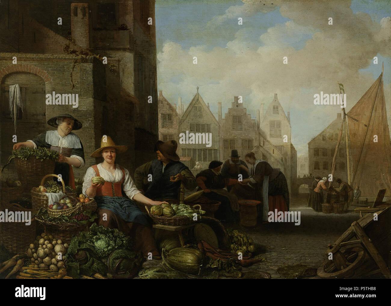 Waar Ligt Huizen : De groentemarkt. nederlands: de groentemarkt. twee vrouwen en een