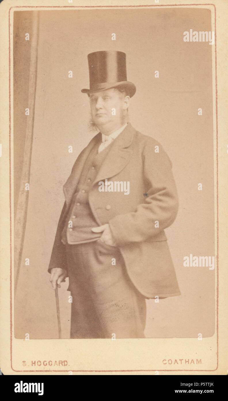 Coatham CDV Carte De Visite Eines Viktorianischen Gentleman Tragt Einen Hut