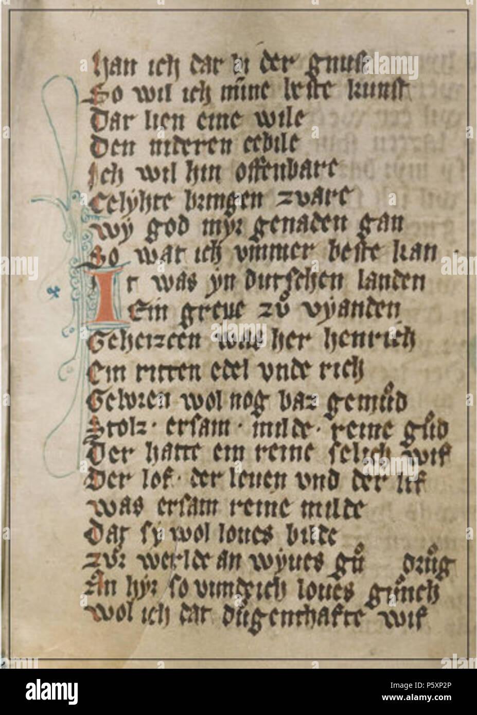 Na Englisch Seite Aus Dem Codex Mariendalensis Manuskript