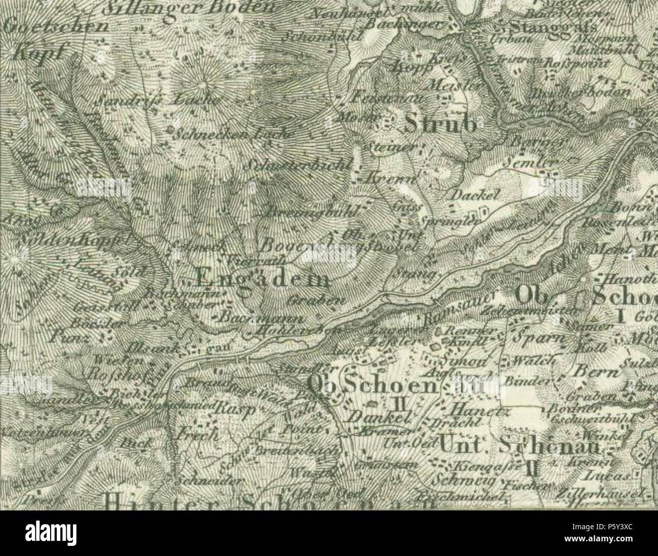 N A Englisch Anfang Des 19 Jahrhunderts Karte Von Engadey