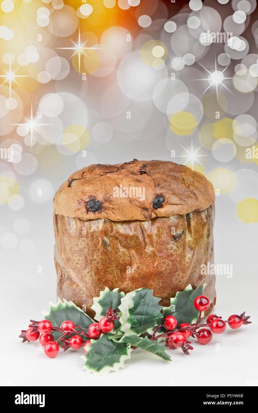 Panettone Traditionelle Italienische Weihnachten Kuchen Mit