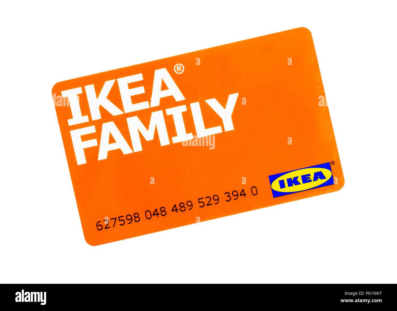 Ikea Family Loyalty Card Stockfoto Bild 210251324 Alamy