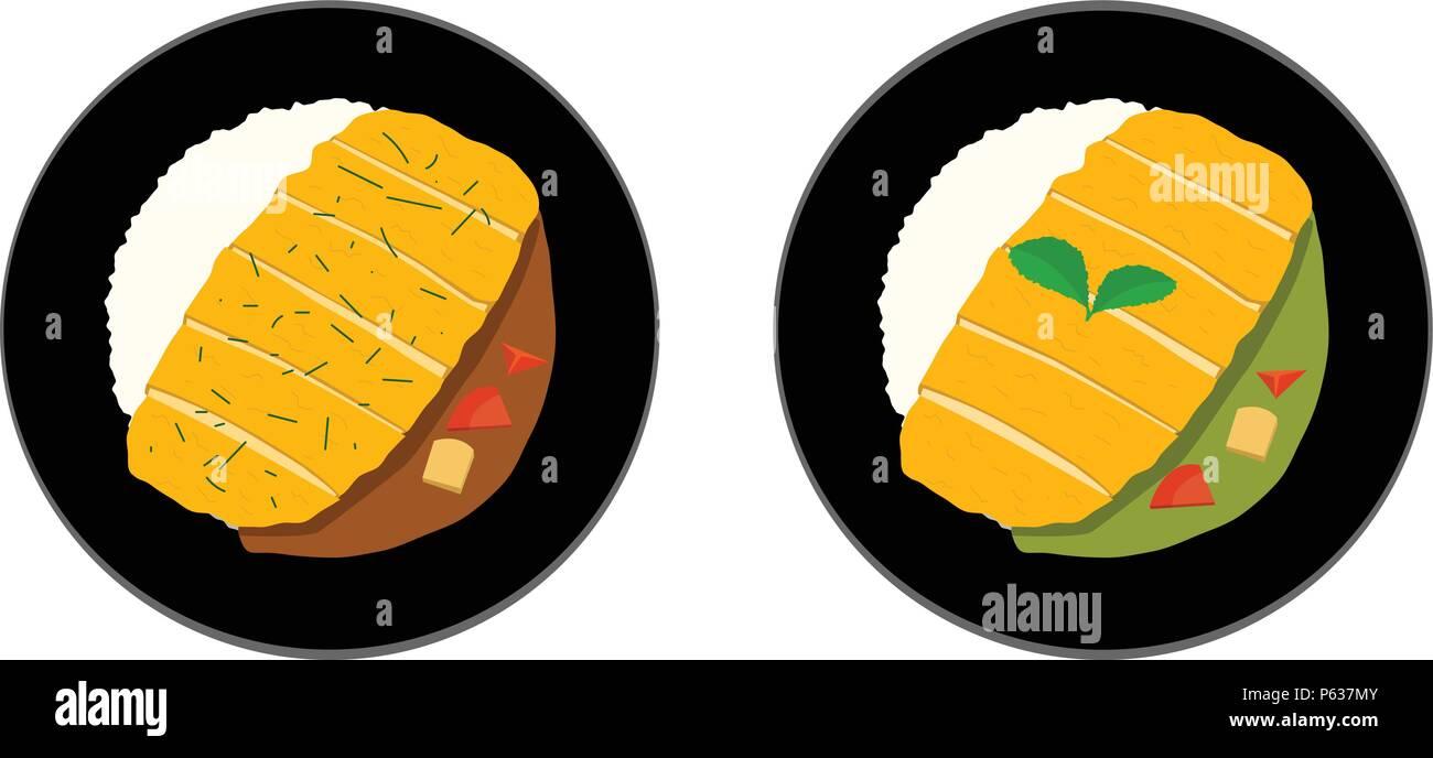 Chicken Curry Vector Stockfotos & Chicken Curry Vector Bilder - Alamy