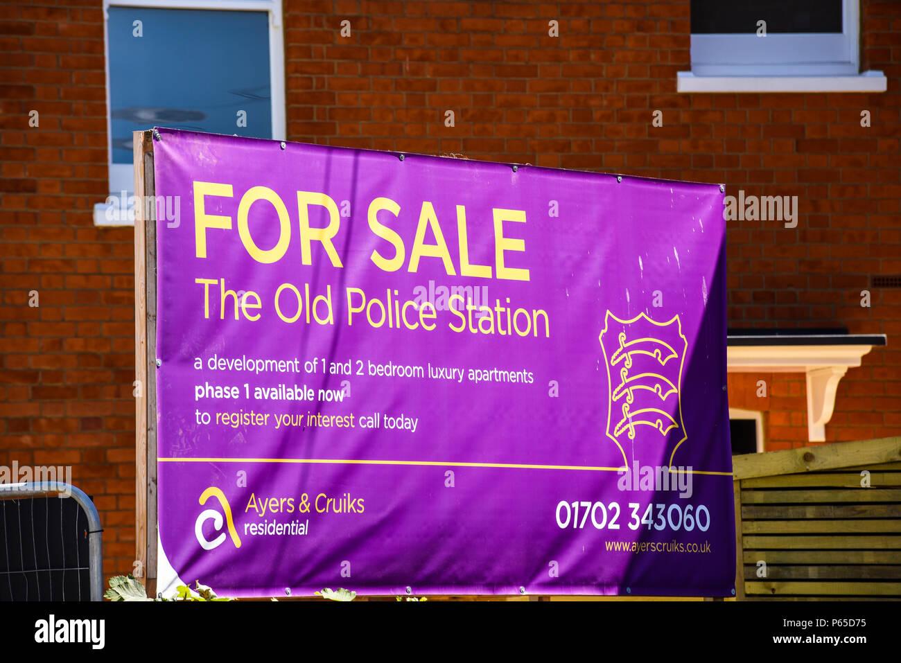 alte polizeistation f r verkauf westcliff on sea essex gro britannien sparma nahmen. Black Bedroom Furniture Sets. Home Design Ideas