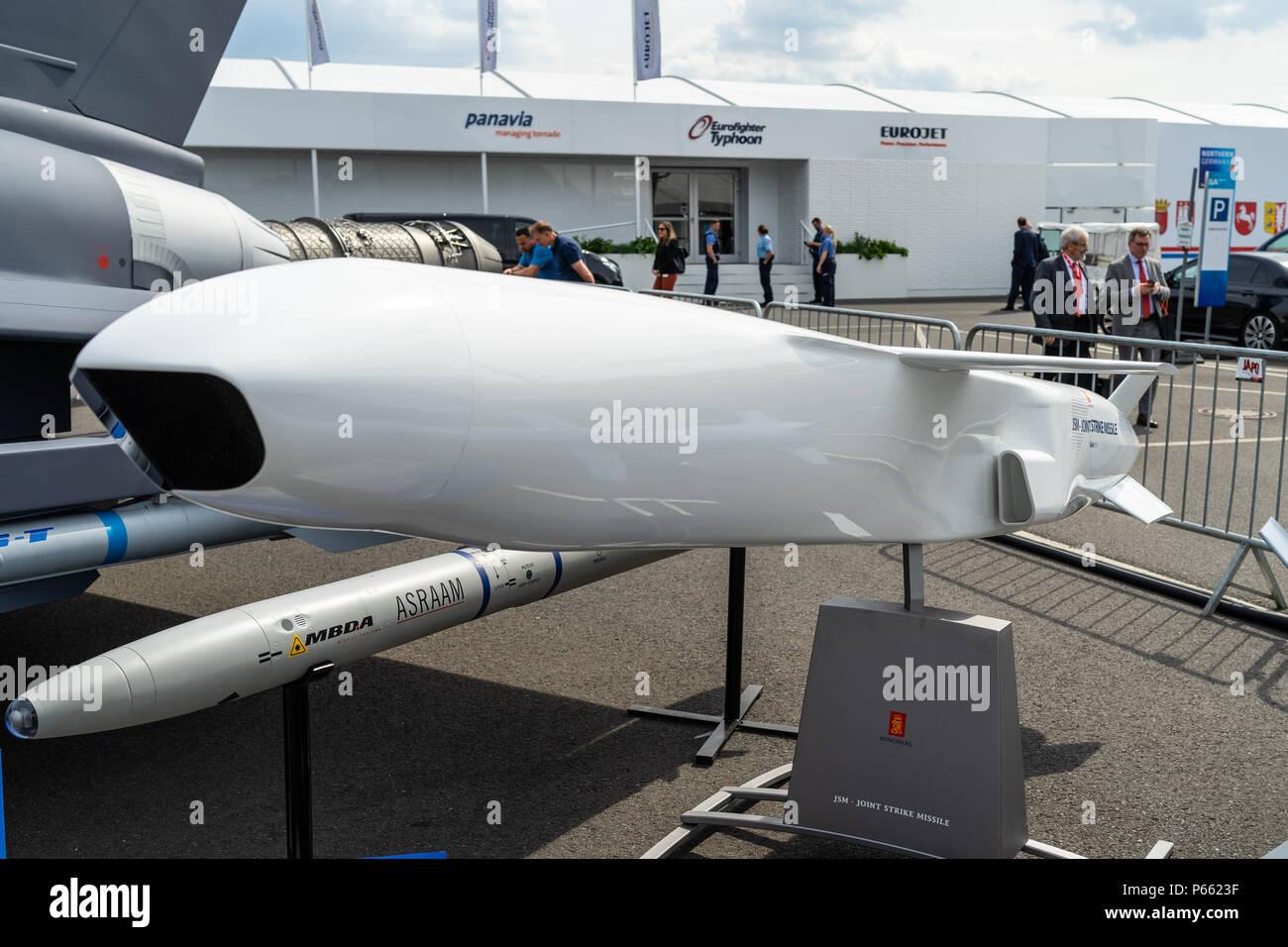 """Ein anti-schiff und an Land Attack missile """"Naval Strike Raketenabwehr"""" (NSM) von der norwegischen Firma Kongsberg Defence & Aerospace (KDA). Stockfoto"""