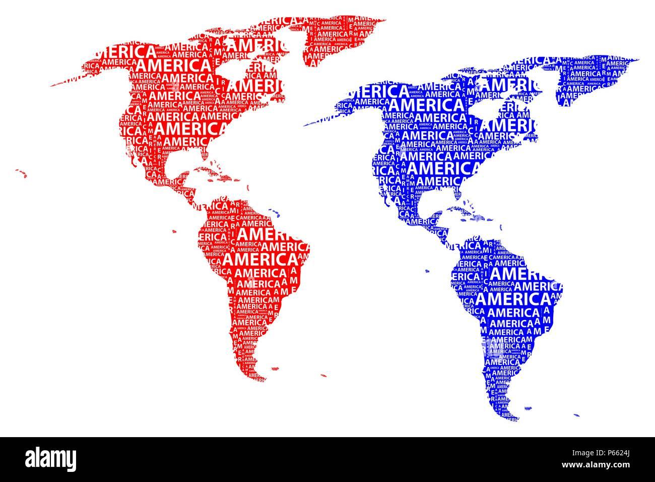 Skizze Amerika Schreiben Text Kontinent Nord Und Sudamerika In