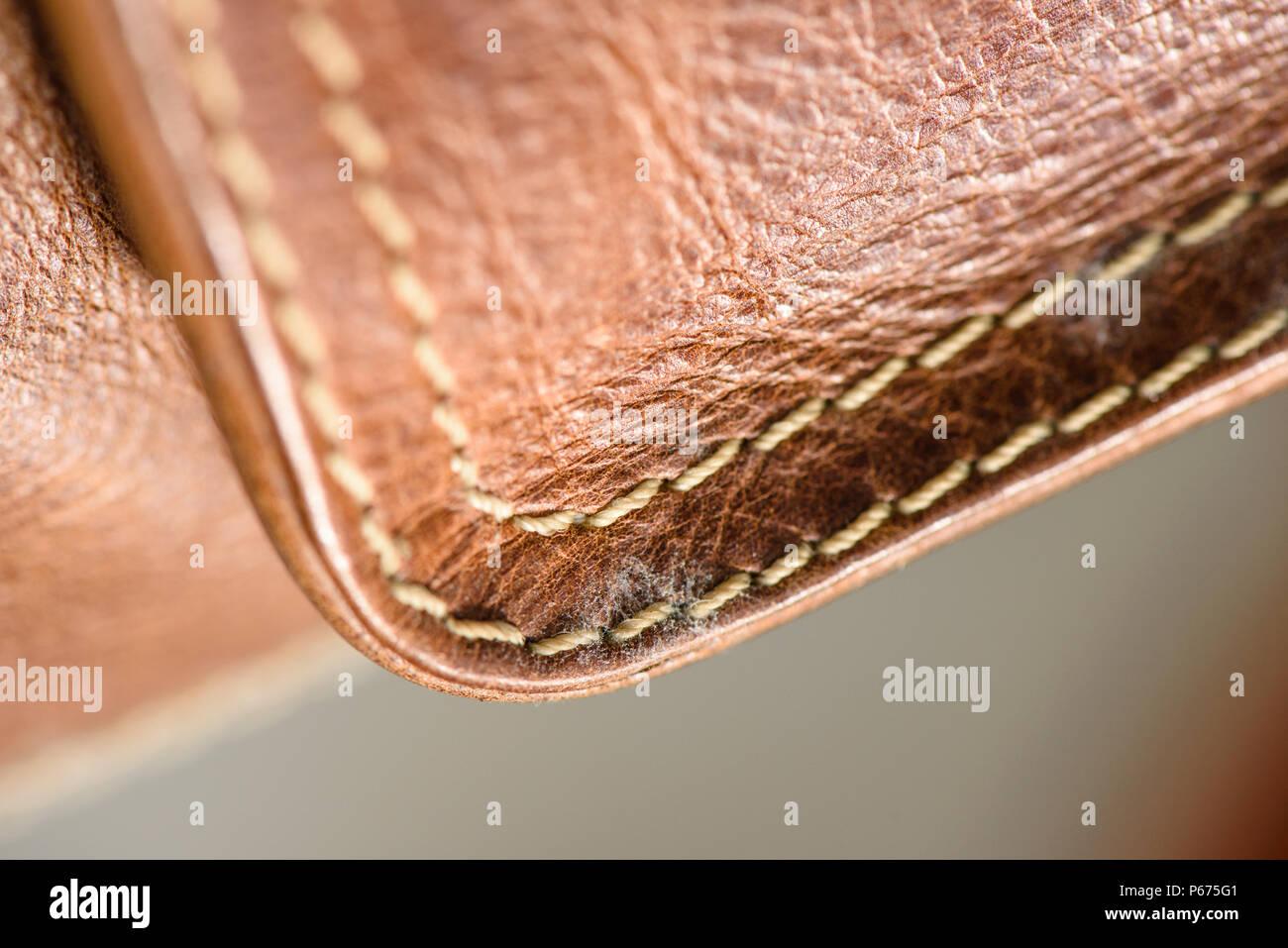 Super Schimmel auf alte braune Ledertasche, Pilz auf Leder Tasche PV52
