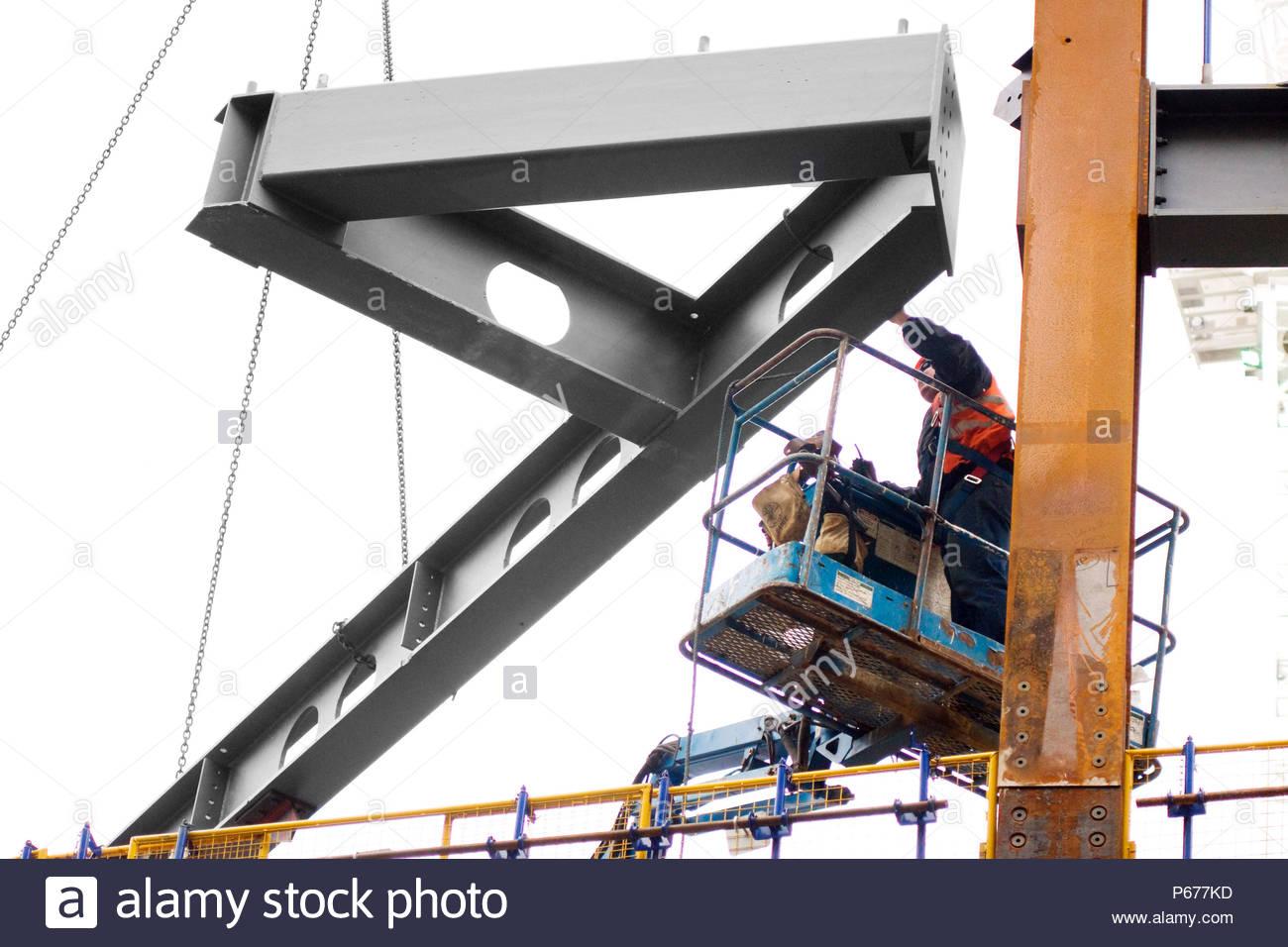 Stahlrahmen Konstruktion Balken, die walbrook, London, UK Stockfoto ...