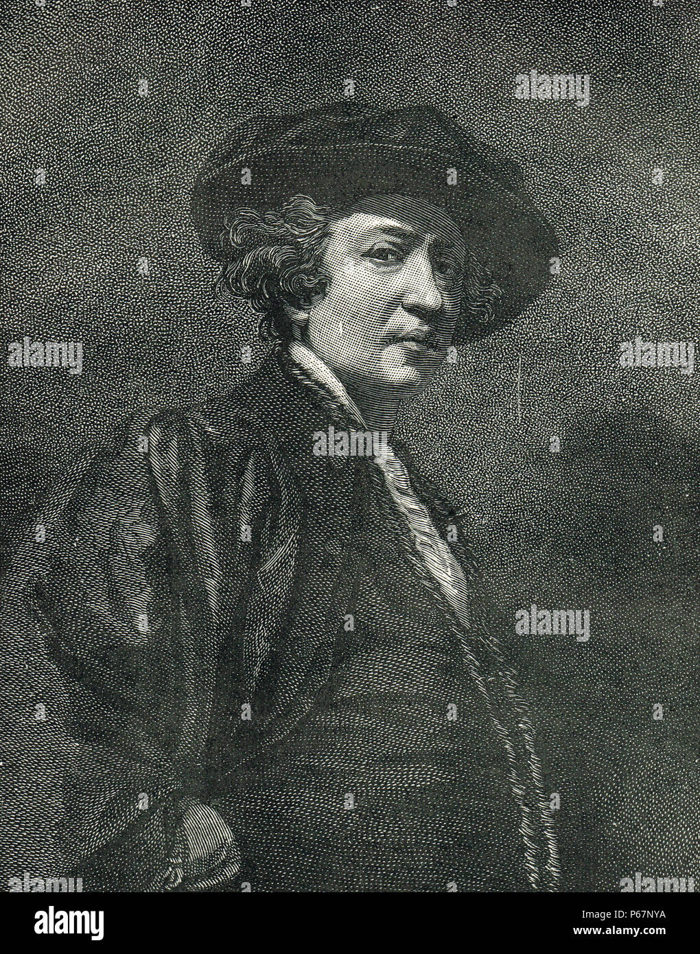 Sir Joshua Reynolds, englischer Maler, spezialisiert auf Porträts Stockbild