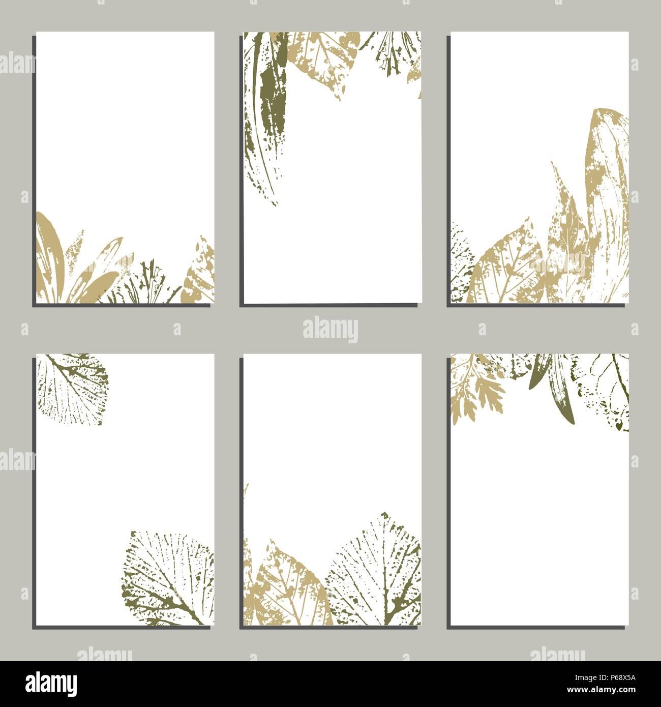 Sammlung Von Vektor Vorlage Aufkleber Visitenkarten