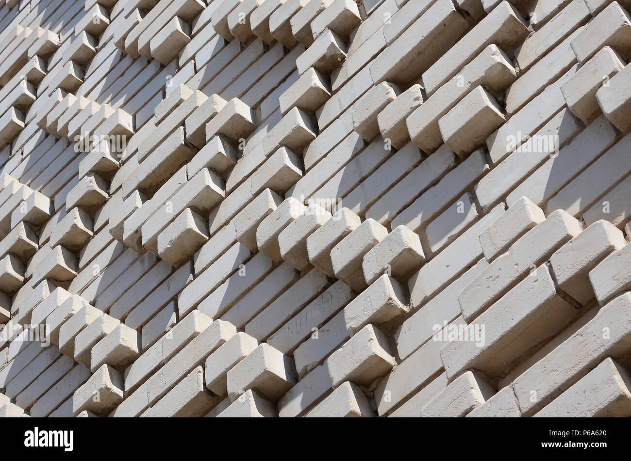 Ein Muster Der Weissen Steine In Form Von Rauten Dekoration Der