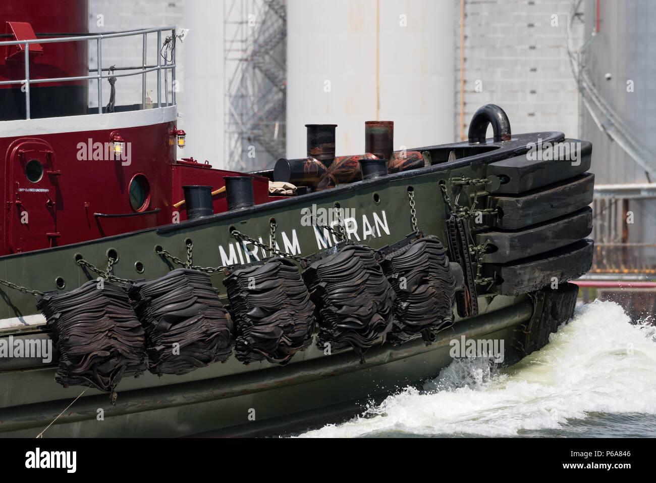 Miriam Moran steuerbord Bug unterwegs Nahaufnahme Stockfoto