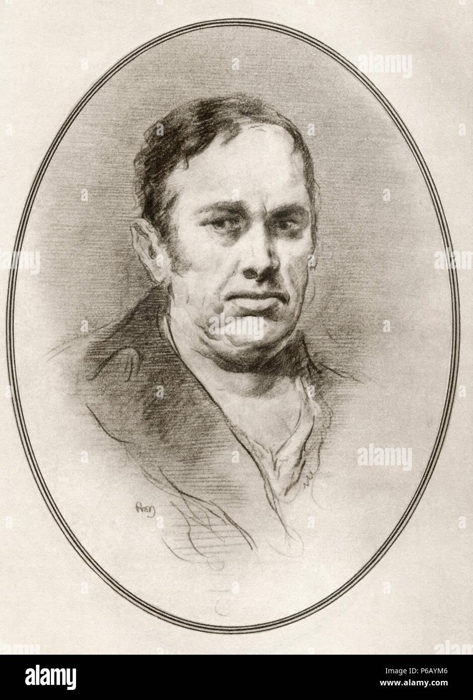 Francisco José de Goya y Lucientes, 1746 - 1828. Spanisch romantische Maler und Graphiker. Abbildung von Gordon Ross, US-amerikanischer Künstler und Illustrator (1873-1946), von lebenden Biographien der großen Maler. Stockbild
