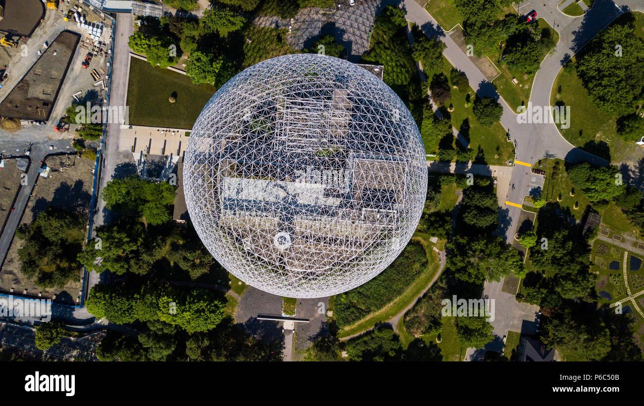 Biosphère de Montréal, Biosphäre Umwelt Museum, Montreal, Kanada Stockbild