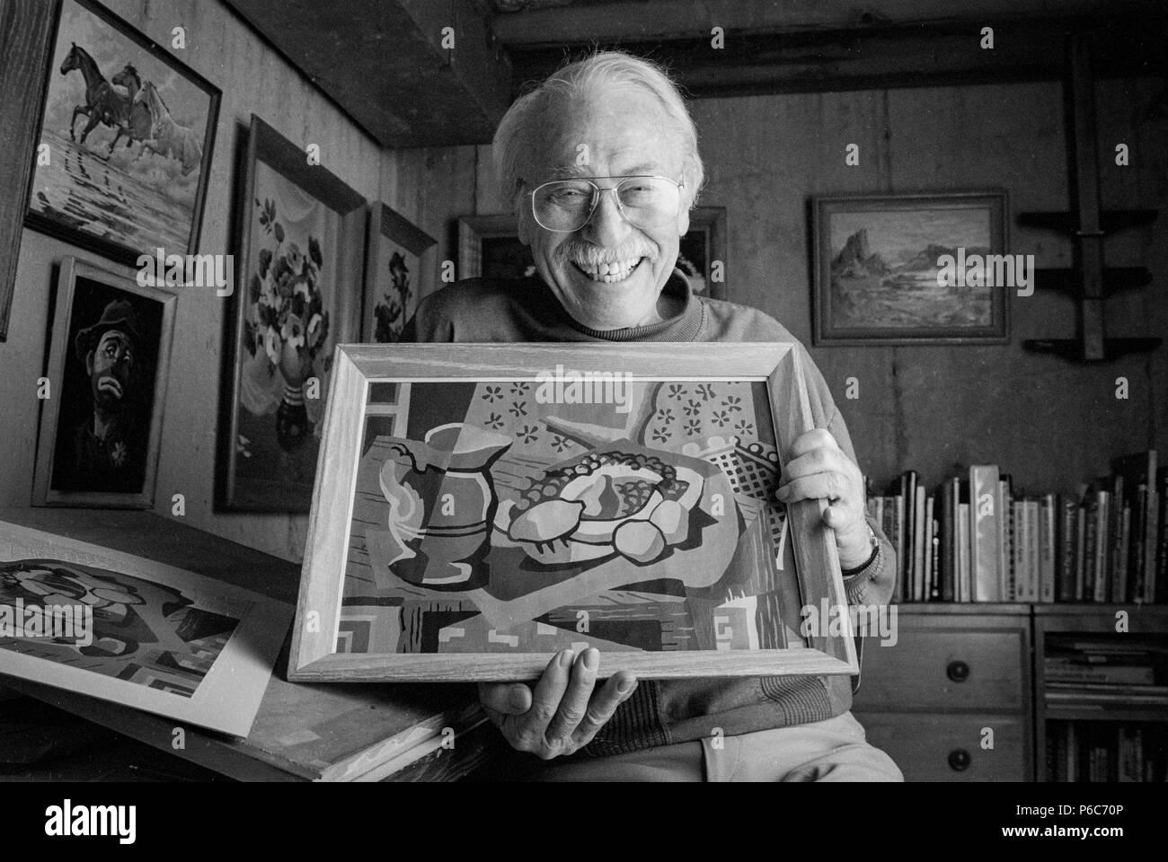 Portrait Von Dan Robbins Einer Der Pioniere Der Malen Nach Zahlen