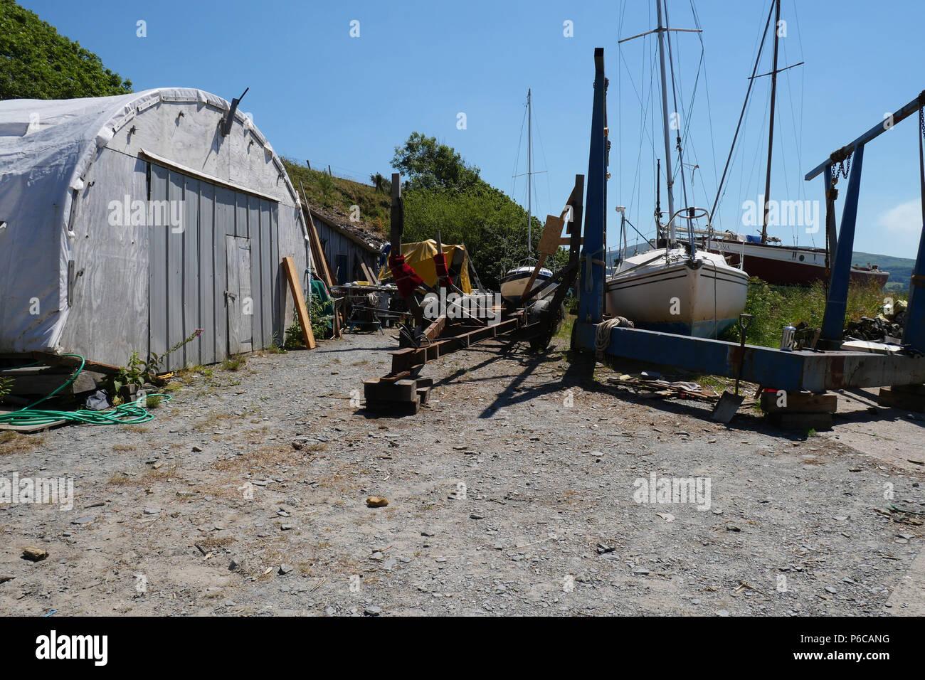 Boatyard Building Boat Traditional Stockfotos & Boatyard Building ...