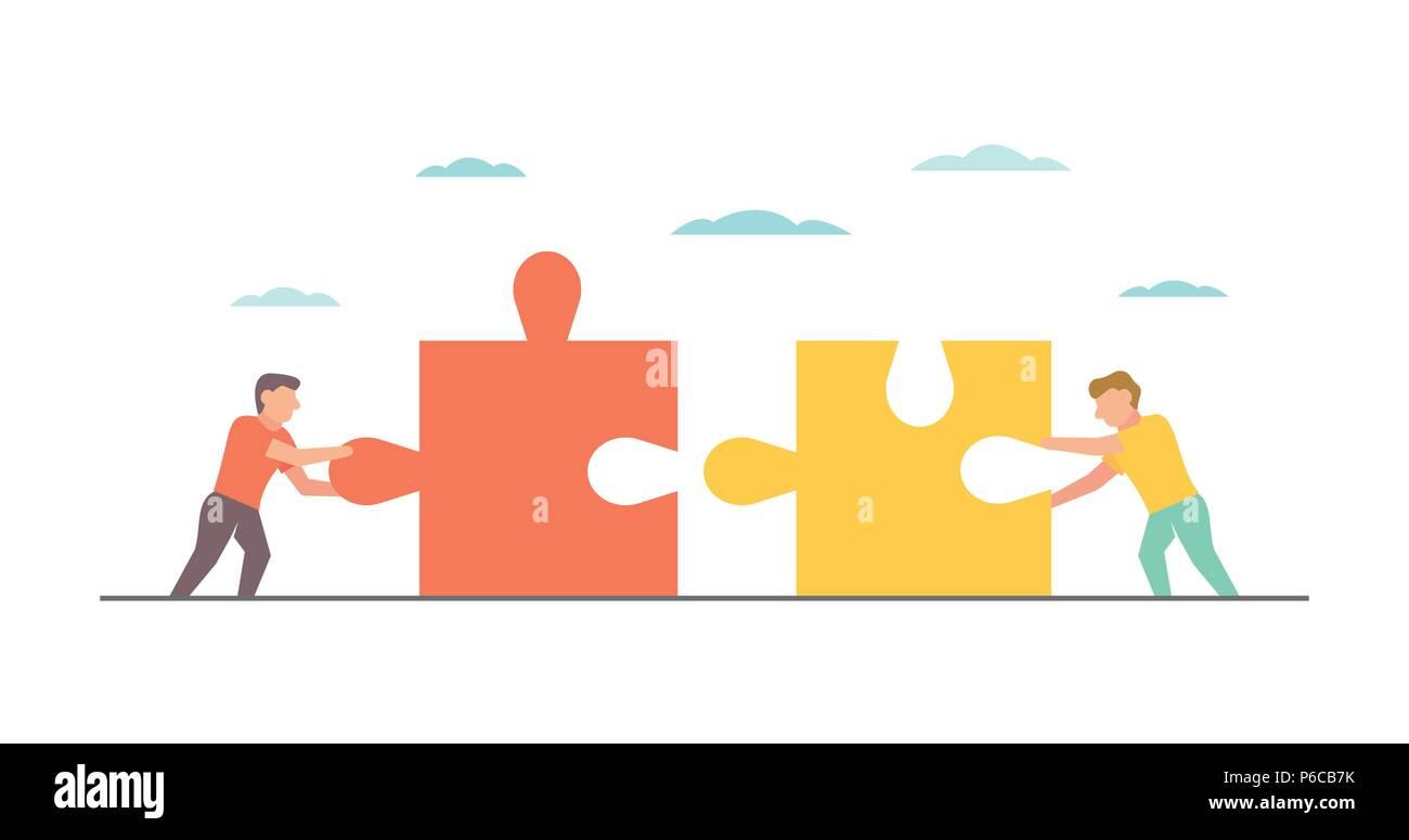 Teamwork Vector Illustration für Business Design und Infografik Stock Vektor