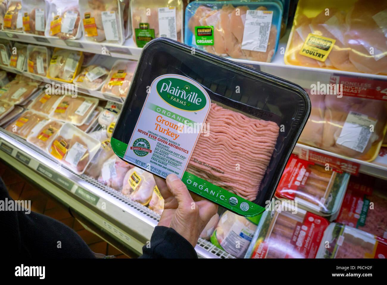 ein shopper der auffassung, ein paket von plainville farmen marke