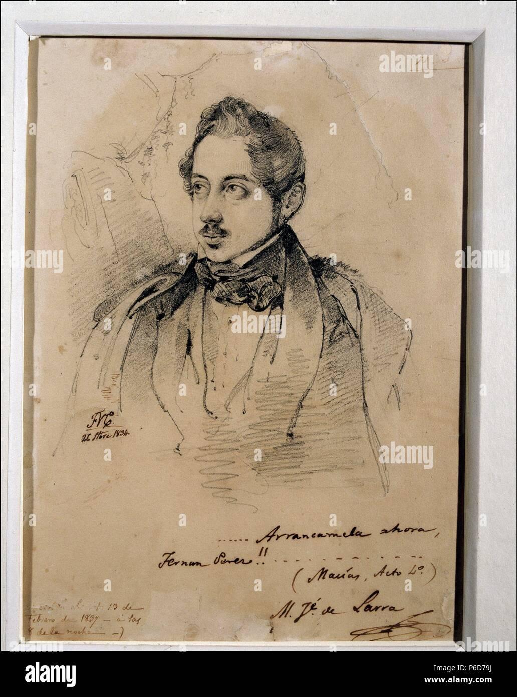 Larra Mariano José Escritor Español Madrid 1809 1837 Dibujo De Federico De Madrazo En El Año 1834 Museo Del Prado Madrid Stockfotografie Alamy