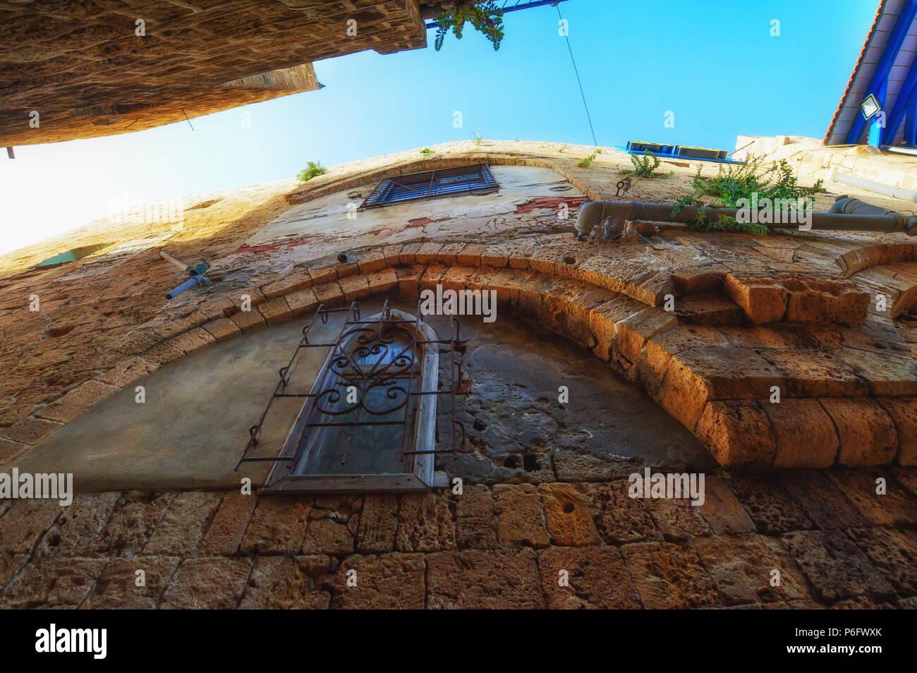 Tel Aviv, Israel, alten gepflasterten Straßen im Arabischen Stil in der Altstadt von Jaffa. Stockfoto