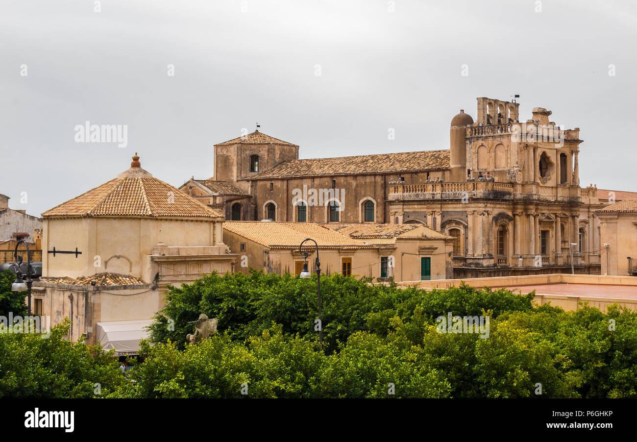 Die barocke Kirche San Carlo in Erice (Sizilien, Italt) Stockbild