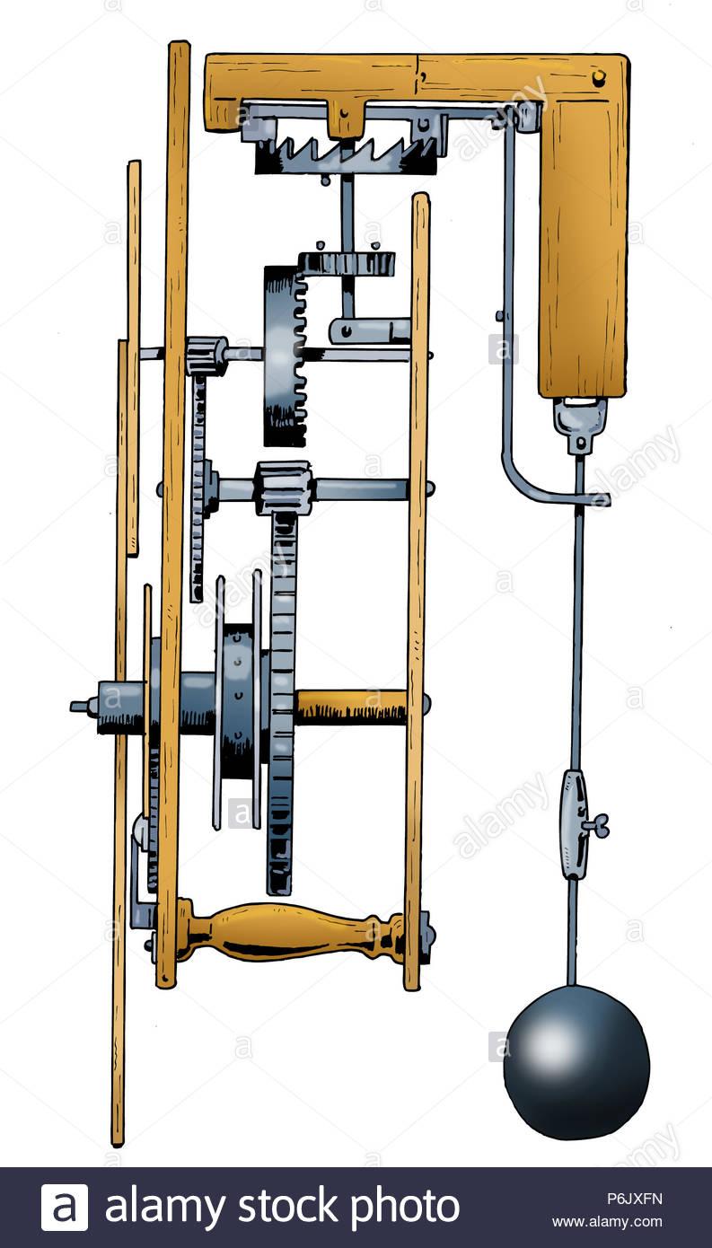 Exploded Clock Stockfotos Bilder Alamy Grandfather Diagram Serie Erfindung Uhrwerk Pendeluhr Stockbild