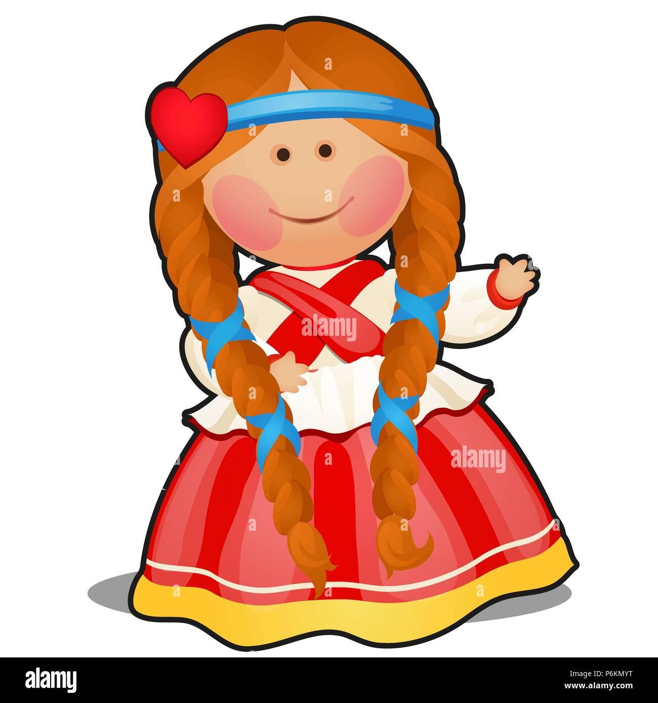 Rag Doll In Form Eines Madchens In Der Russischen Folklore Kleidung