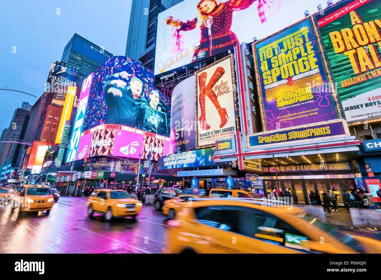 Times Square New York Lichter Manhattan New York City Stockbild