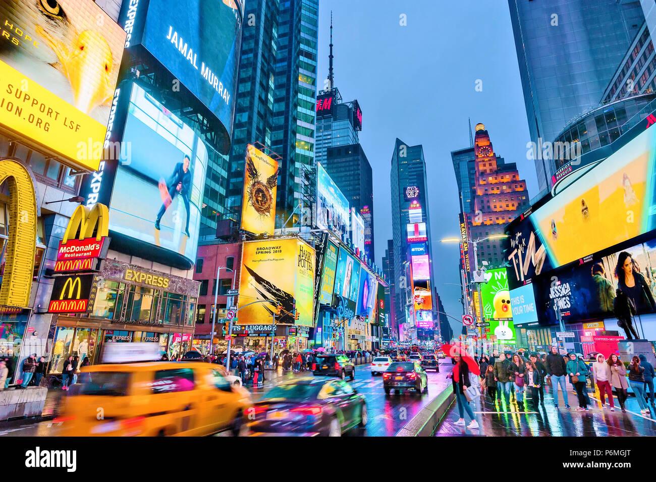 New York Times Square Leuchten Manhattan New York City Stockbild
